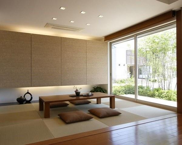 Thiết kế phòng khách kiểu Nhật cho không gian nhỏ hẹp