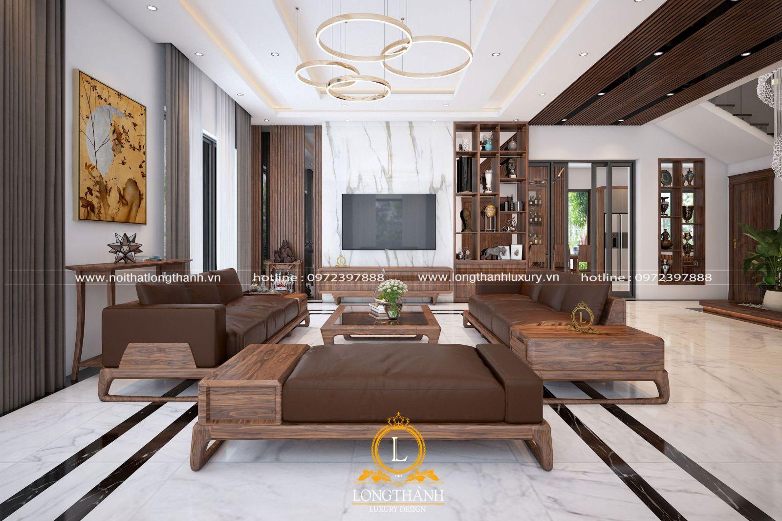 Nội thất phòng khách đẹp cho biệt thự hiện đại