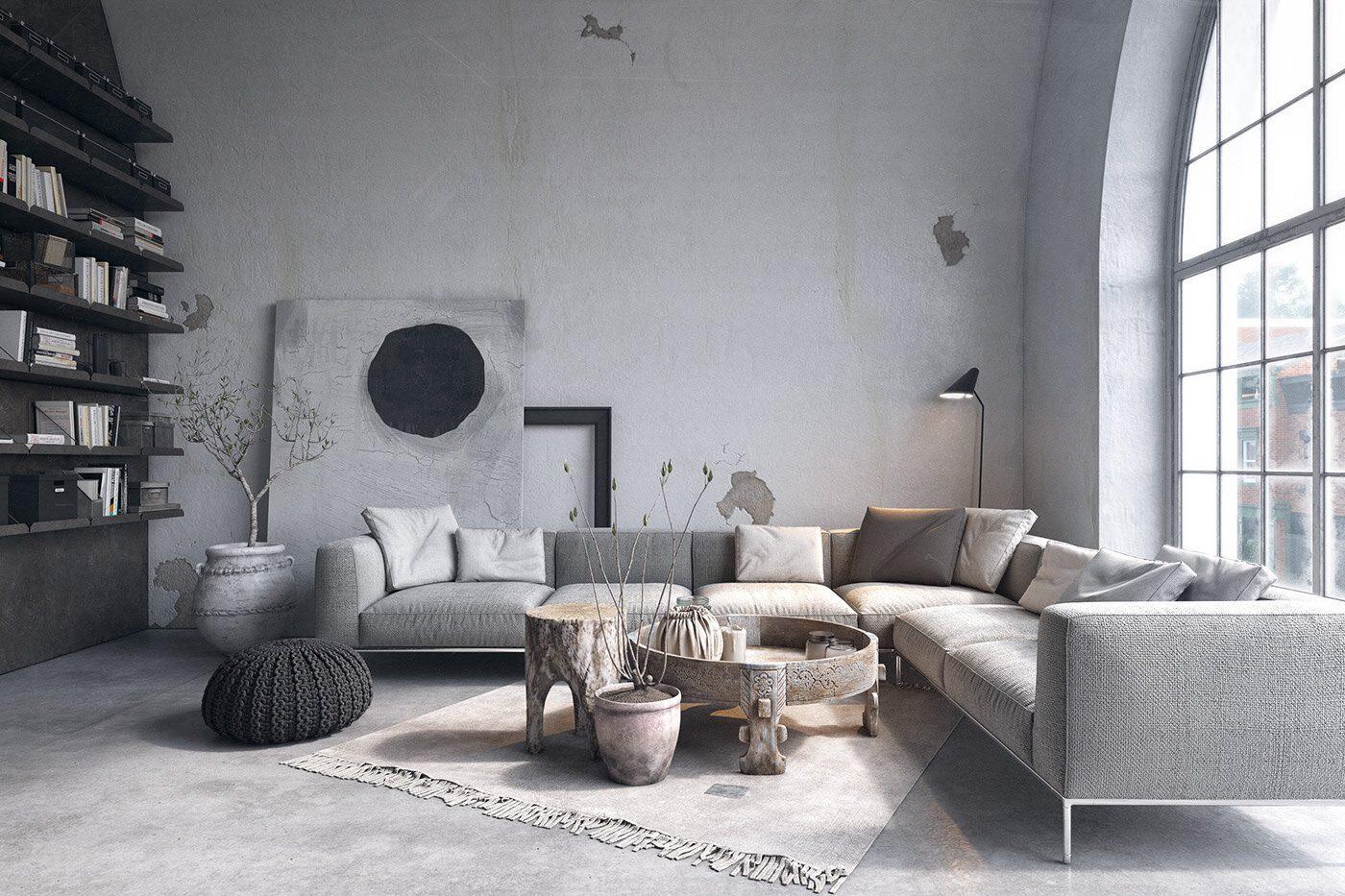 Nội thất phòng khách kiểu Scandinavia thường đơn giản ít chi tiết