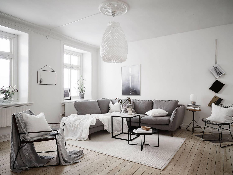 Nội thất phòng khách màu sắc Scandinavian đơn giản mà tinh tế