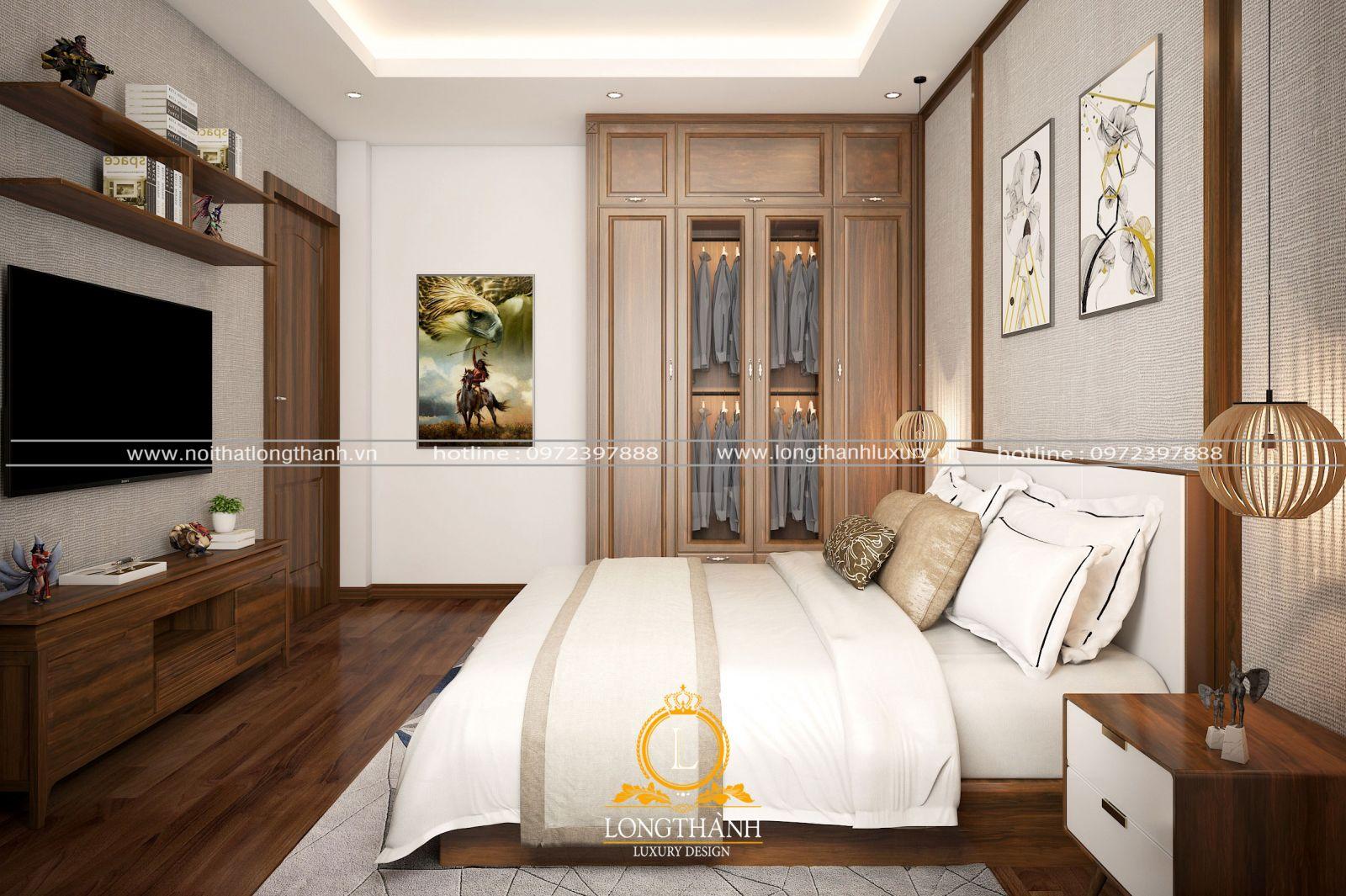 Nội thất phòng ngủ hiện đại cho căn hộ chung cư