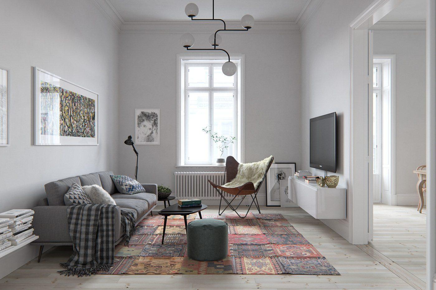 Nội thất phòng khách mang phong cách Scandinavian được yêu thích tại Việt Nam