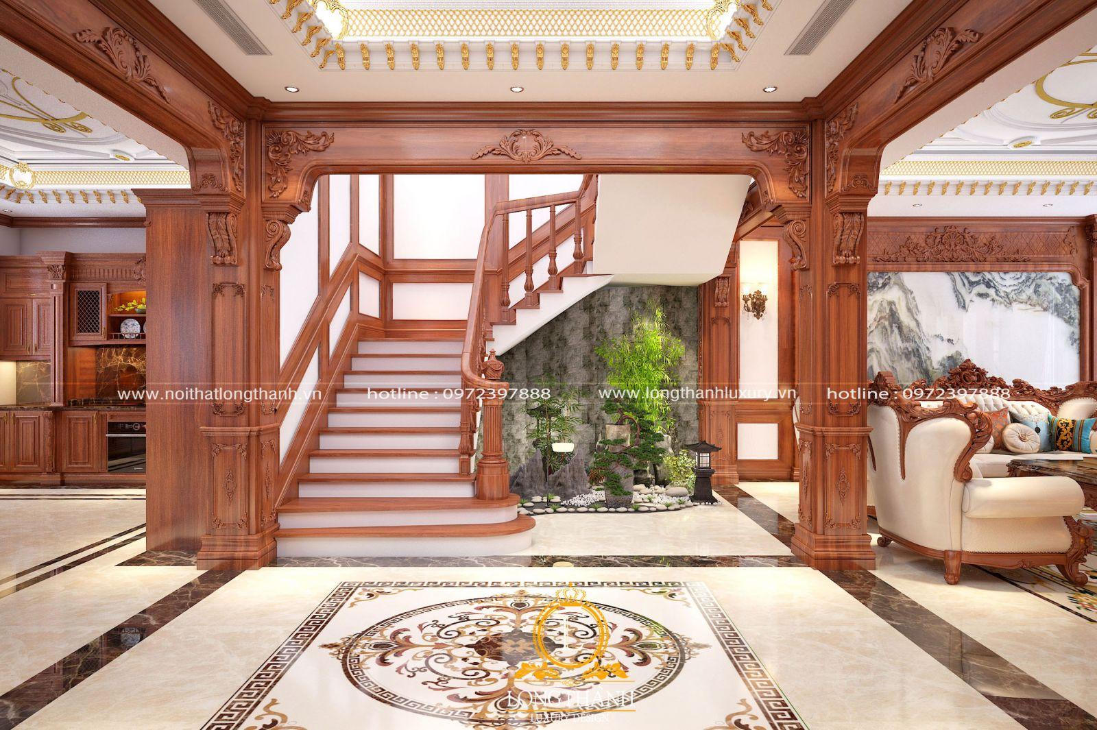 Căn phòng khách tân cổ điển đẹp sang trọng và đẳng cấp