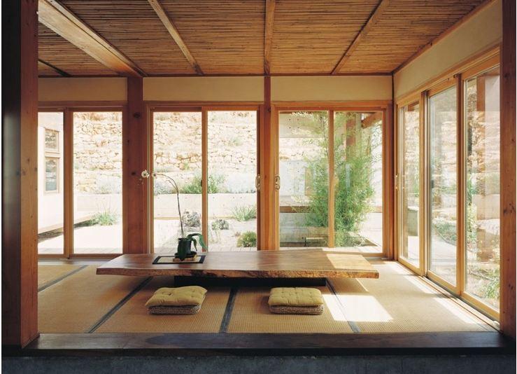 Mẫu phòng khách đơn giản lấy cảm hứng từ phong cách Zen thiền