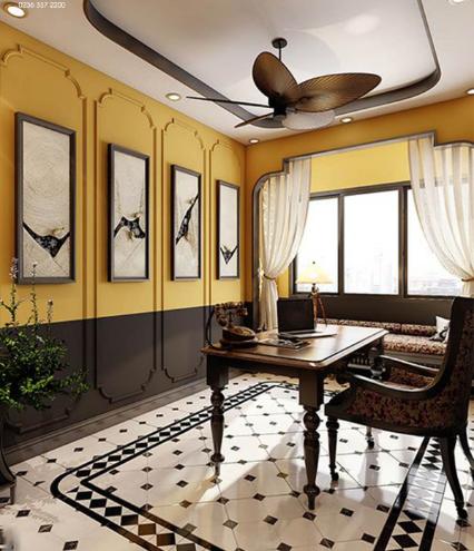 phòng làm việc Phong cách Indochine