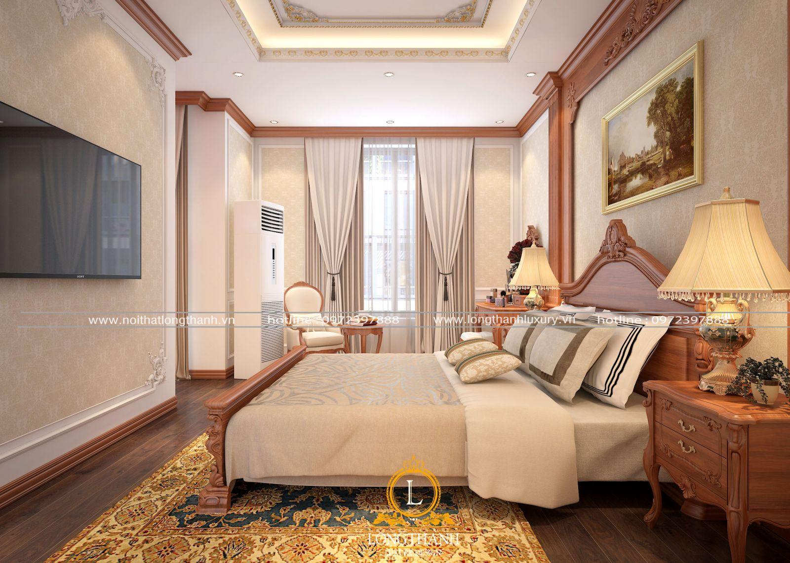 Mẫu phòng ngủ cao cấp của Long Thành
