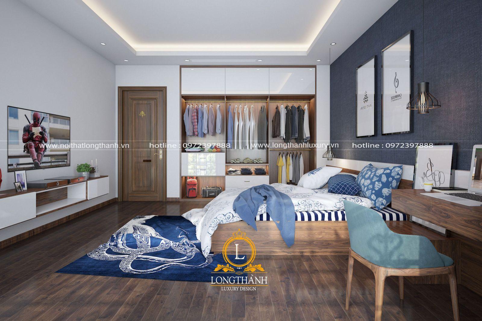 Nội thất phòng ngủ đơn giản cho bé trai