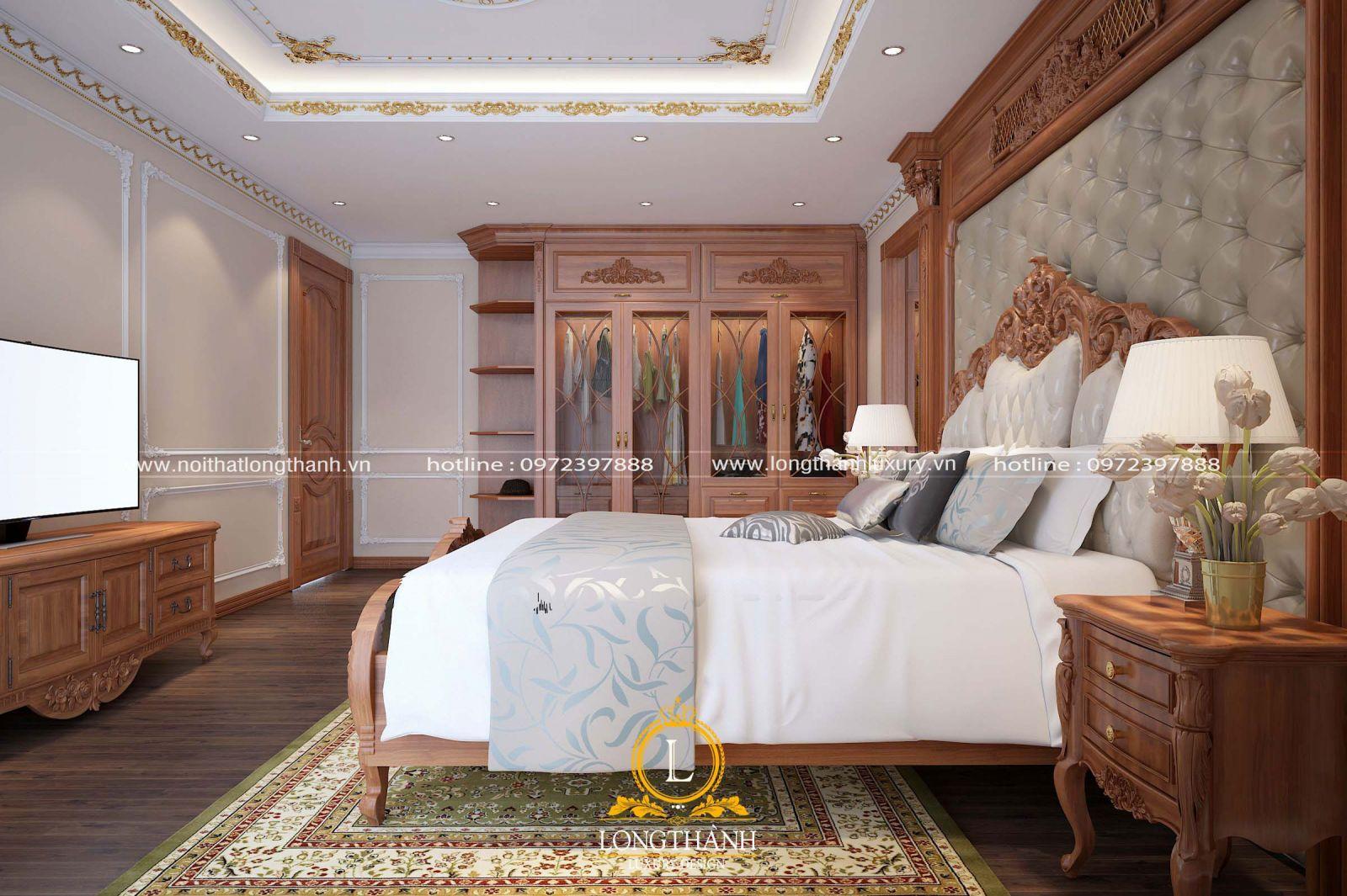 Nội thất phòng ngủ gỗ Gõ sang trọng