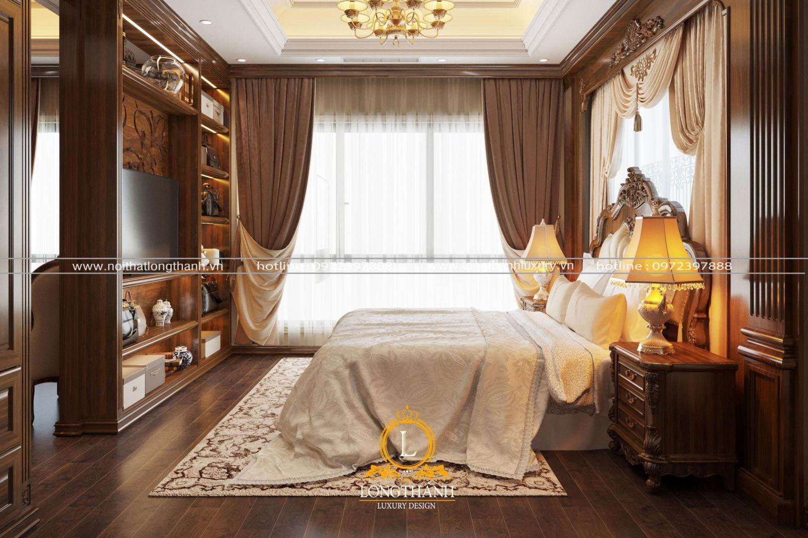 Nội thất phòng ngủ gỗ tự nhiên luôn là lựa chọn hàng đầu