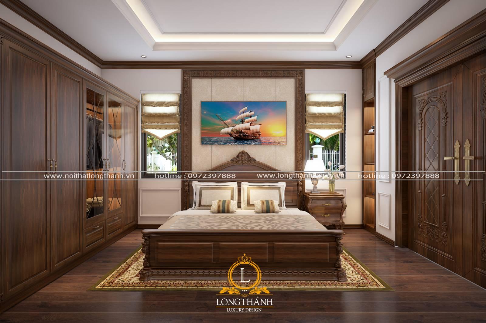 Nội thất phòng ngủ tân cổ điển mang vẻ đẹp sang trọng hiện đại