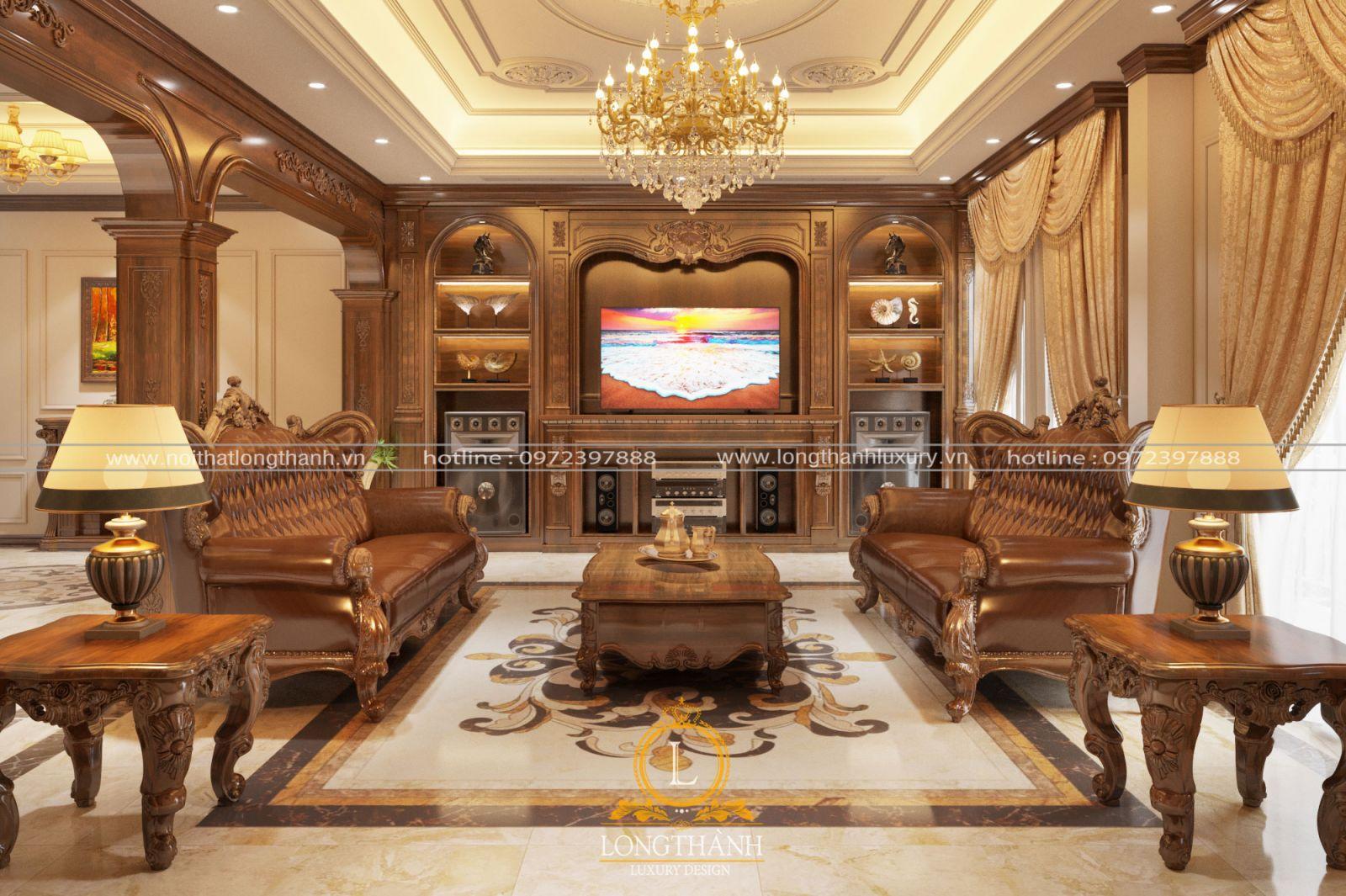 Thiết kế nội thất nhà phố theo phong cách tân cổ điển sang trọng