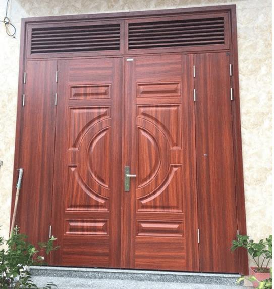 Mẫu Ô gió cửa gỗ cho nhàbiệt thự hiện đại