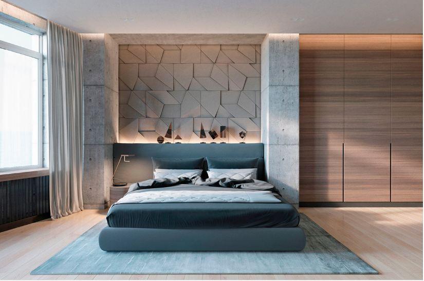 Thiết kế phòng ngủ ốp gỗ độc đáo