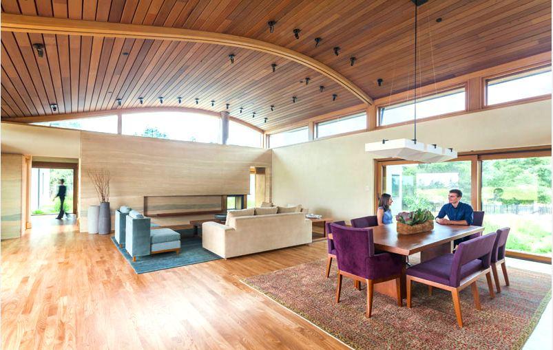 Ốp trần gỗ công nghiệp đơn giản tiết kiệm chi phí