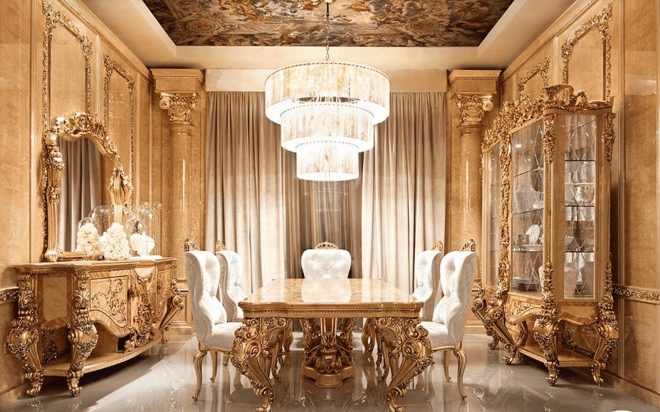 Thiết kế phòng ăn phong cách tân cổ điển Pháp ngọt ngào quyến rũ