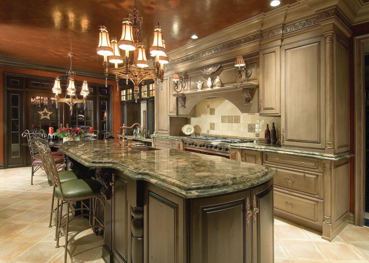 Phòng bếp cổ điển kiểu Pháp cuốn hút