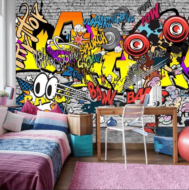 Thiết kế nội thất nhà ở phong cách Grafiti đòi hỏi bạn phải là người tinh tế, cẩn thận từng chi tiết trang trí
