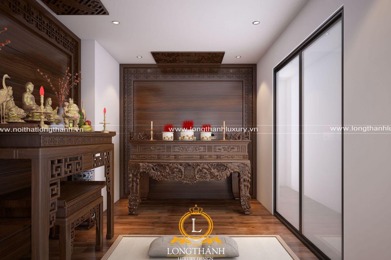 Thiết kế bàn thờ nhà chung cư với 2 phong cách cơ bản là tân cổ điển và hiện đại