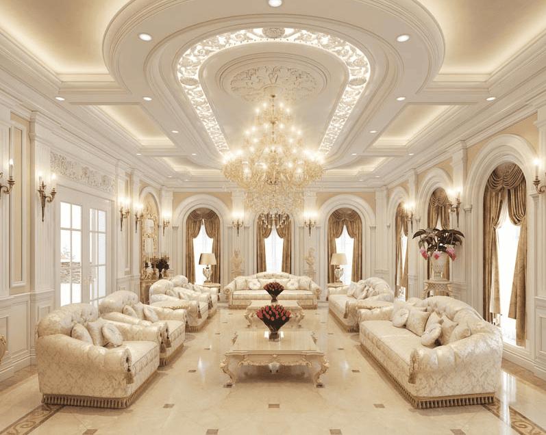 Thiết kế nội thất cổ điển Châu Âu pha trộn các yếu tố âm nhạc, kiến trúc và nghệ thuật