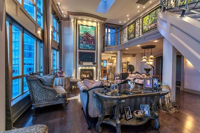 Phòng khách nhà biệt thự theo kiểu cổ điển Châu Âu