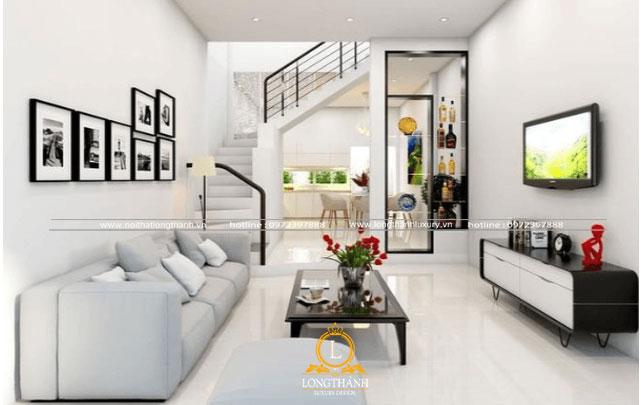 Phòng khách đẹp được thiết kế nhẹ nhàng