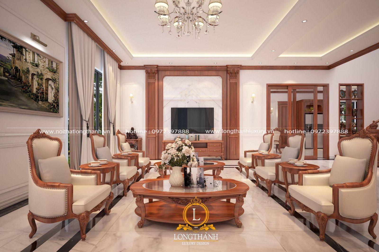 Sofa tân cổ điển với thiết kế đơn giản
