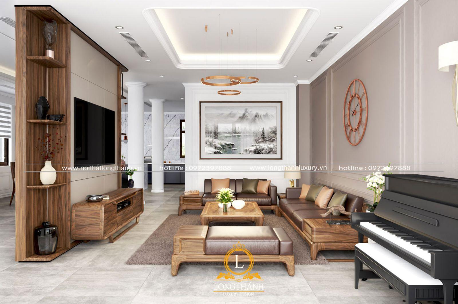 Màu sắc và ánh sáng cùng cách trang trí phòng khách cần phù hợp với phong cách của gia chủ