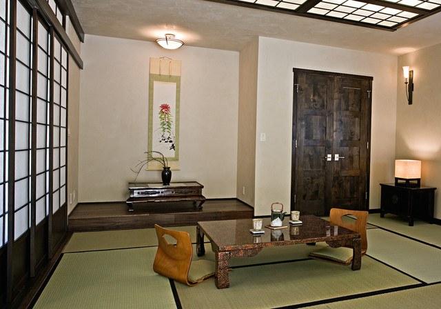 Cửa trượt chính là nét đặc trưng nhất của phòng khách kiểu Nhật