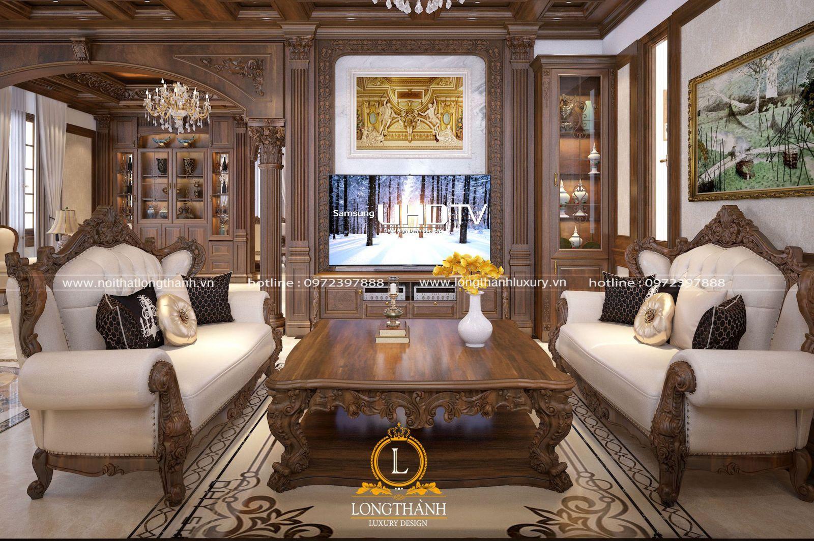 Phòng khách tân cổ điển biệt thự lớn
