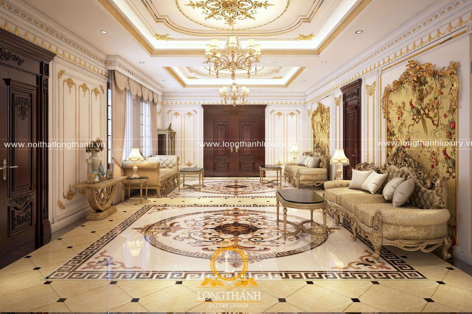 Họa tiết dát vàng là đặc trưng của thiết kế tân cổ điển châu Âu