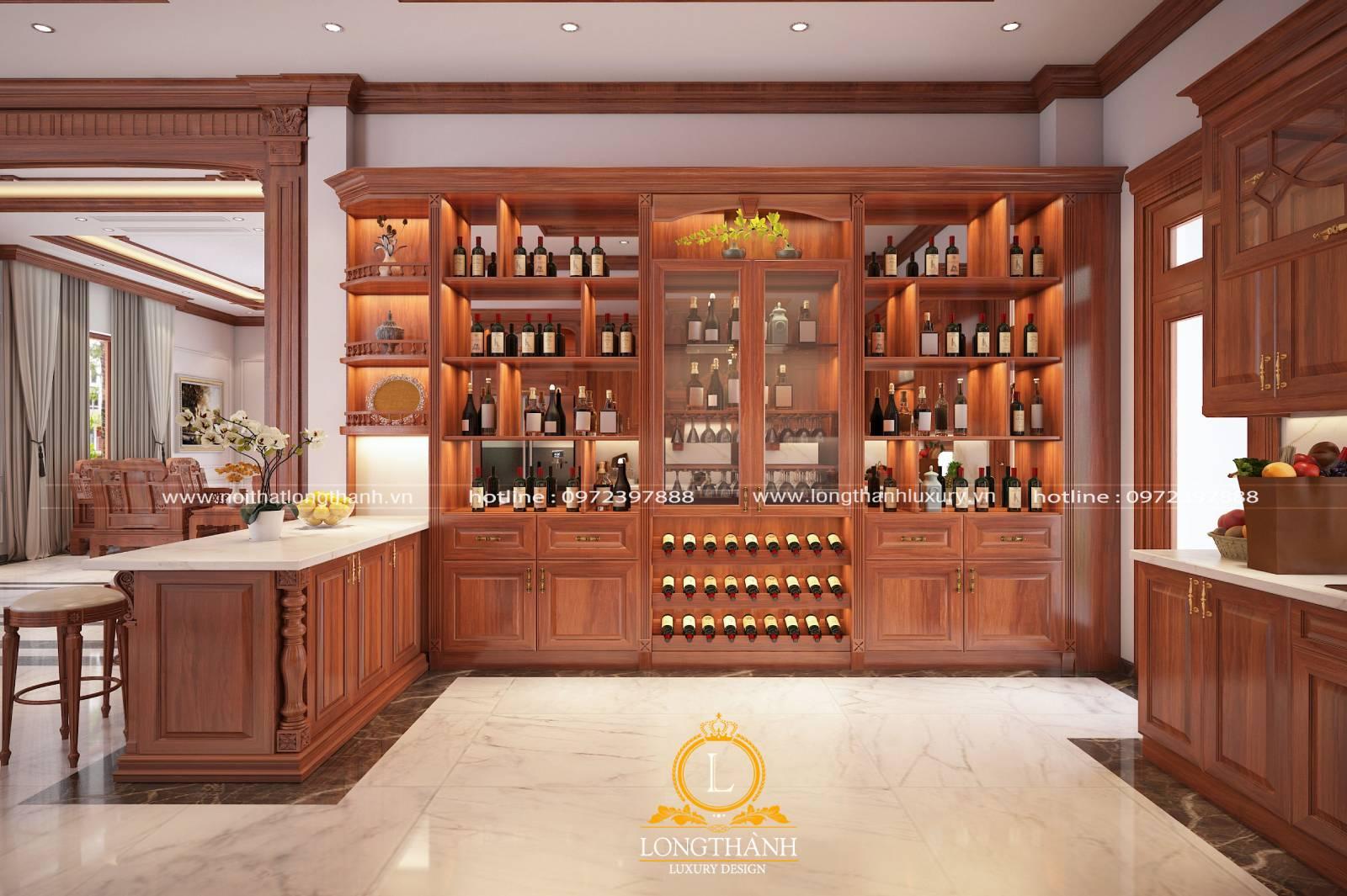 Phòng khác tân cổ điển liền phòng ăn sử dụng gỗ tự nhiên cao cấp