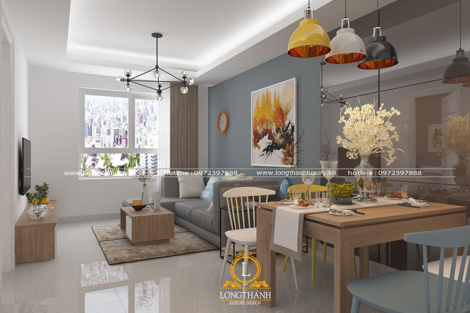 Thiết kế không gian khách bếp cho chung cư diện tích nhỏ
