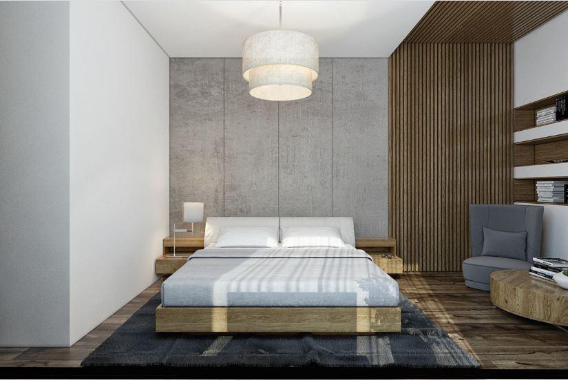 Ốp gỗ laminate cho phòng ngủ hiện đại