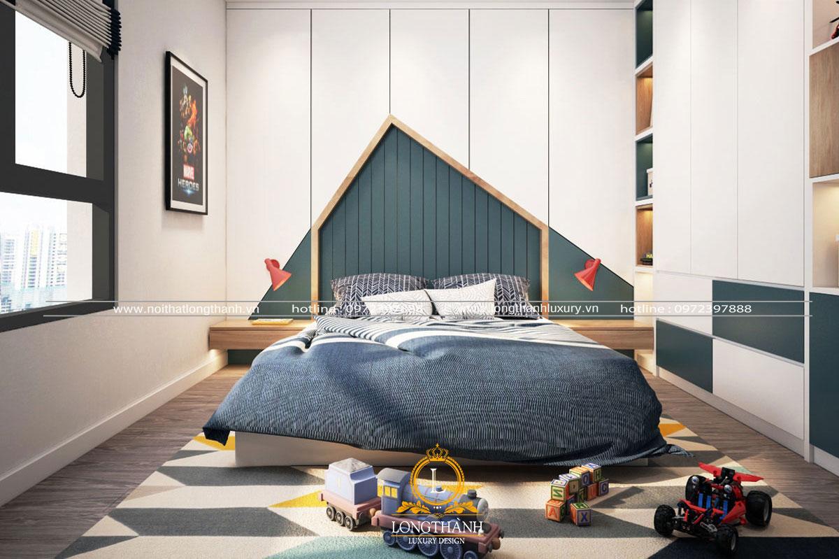 Phòng ngủ bé trai được thiết kế tối giản