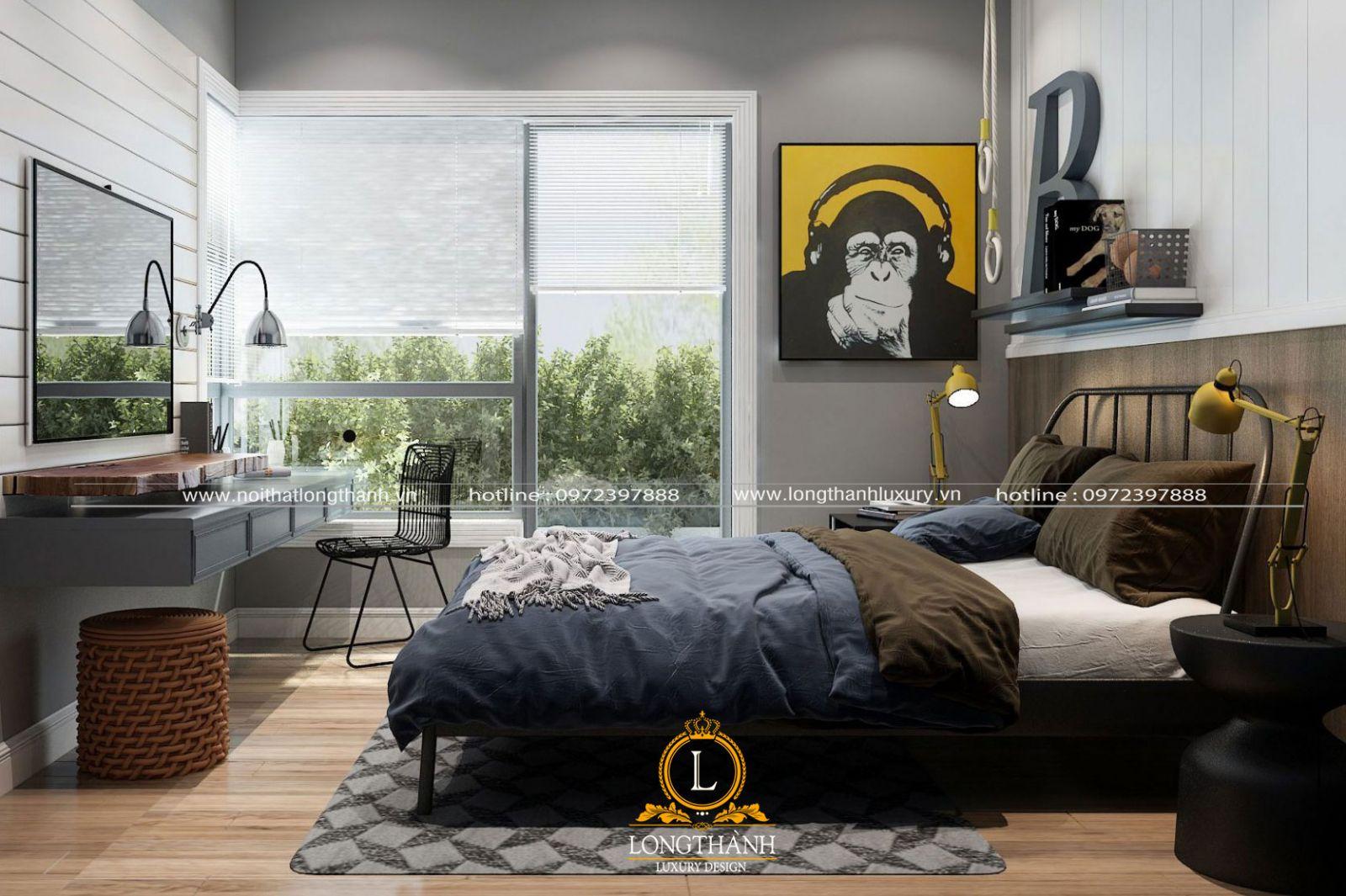 Phòng ngủ cho bé trai có cá tính mạnh mẽ