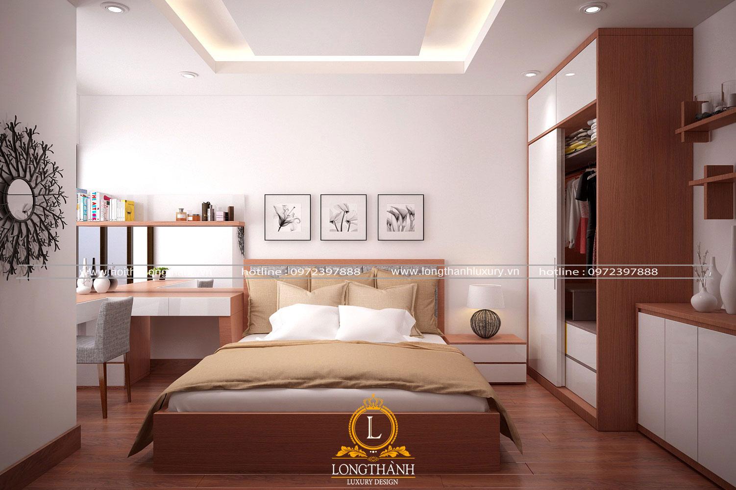 Phòng ngủ hiện đại với thiết kế nội thất thông minh