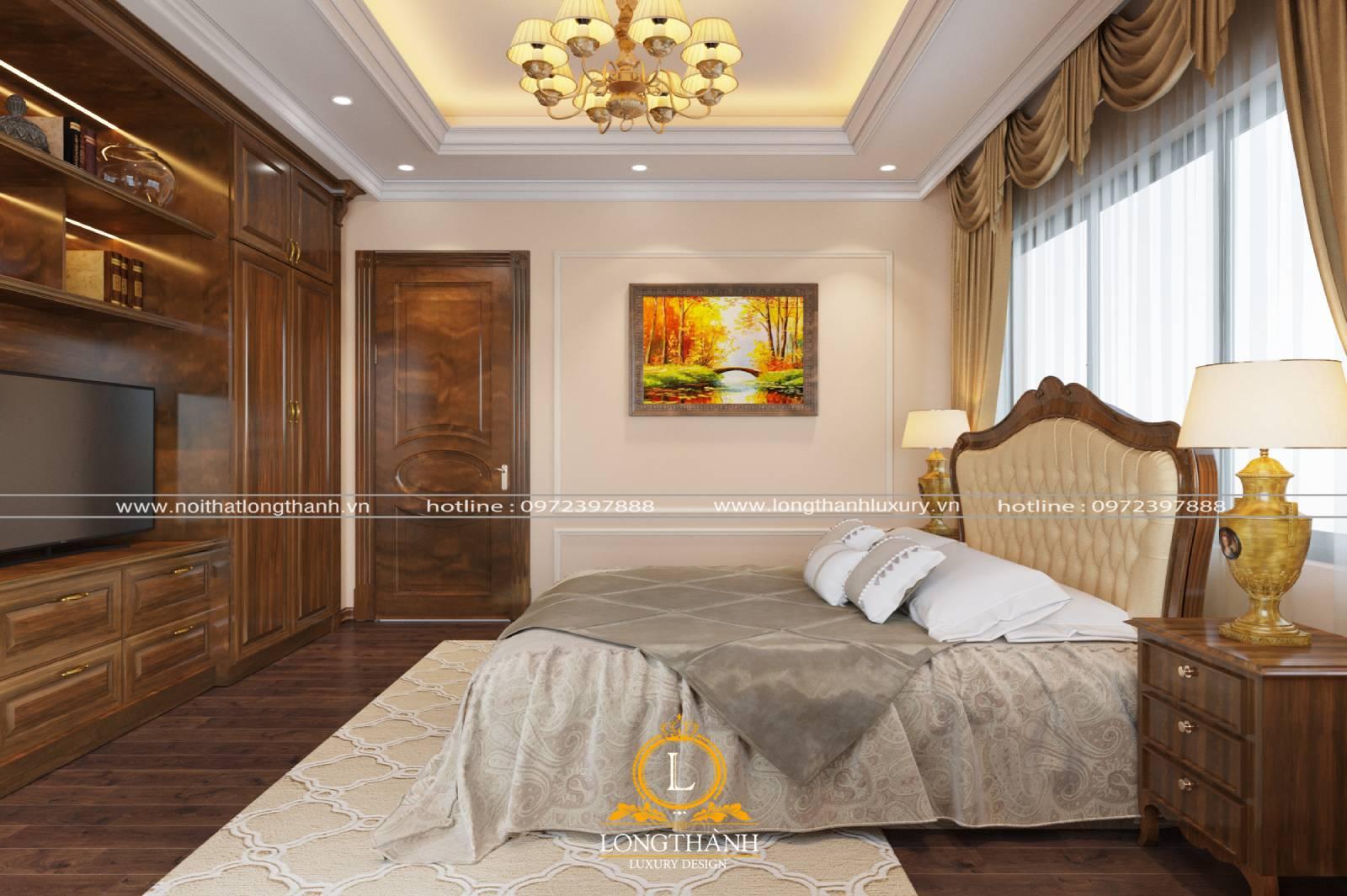 Phòng ngủ chung cư tân cổ điển hiện đại