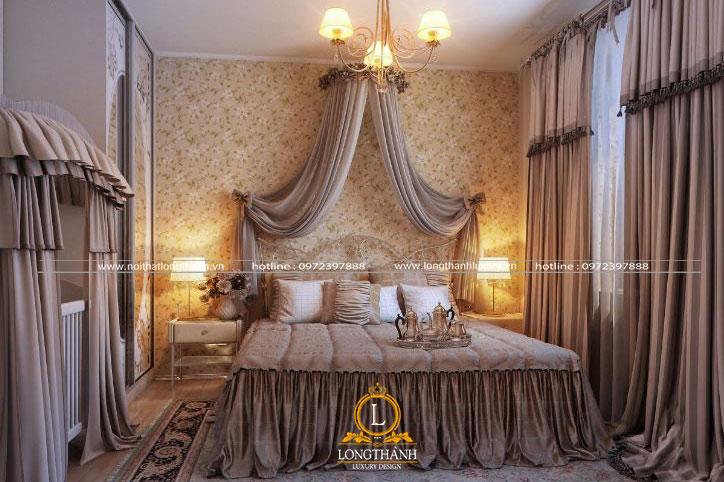Phòng ngủ cổ điển với thiết kế cầu kỳ