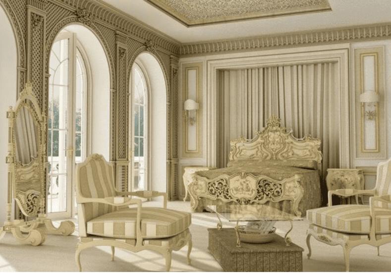 Không gian phòng ngủ phong cách Châu Âu cổ điển nhẹ nhàng tinh tế