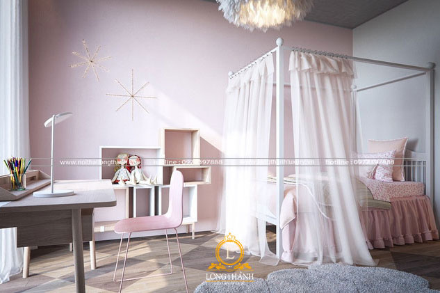 Phòng ngủ công chúa cho bé gái đẹp
