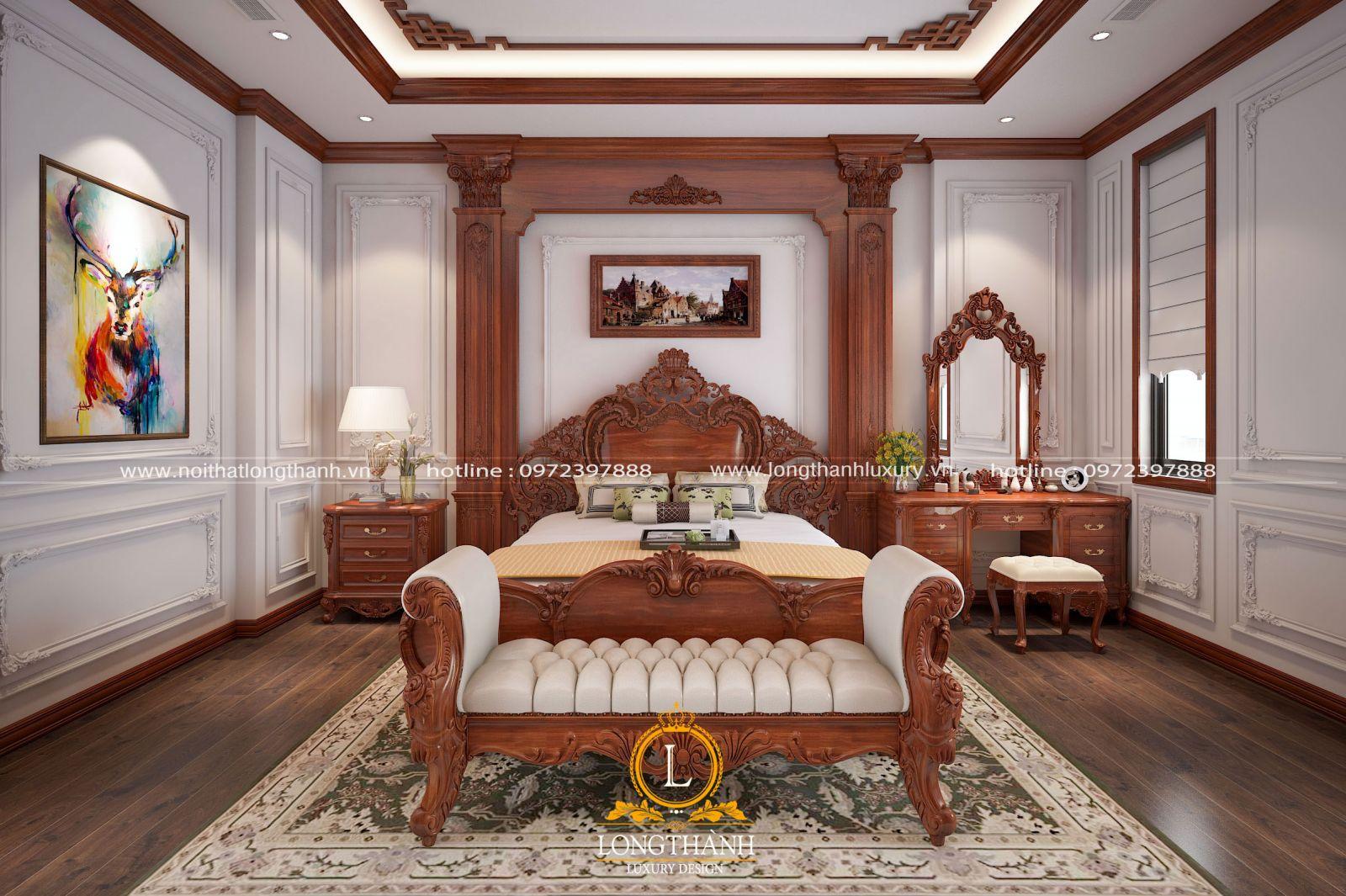 Phòng ngủ phong cách tân cổ điển sang trọng và ấn tượng