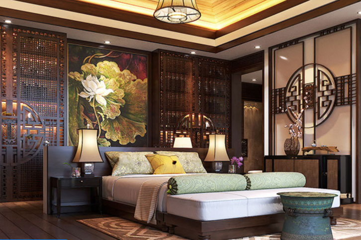 Phòng ngủ đẹp được thiết kế và bố trí nhẹ nhàng tinh tế