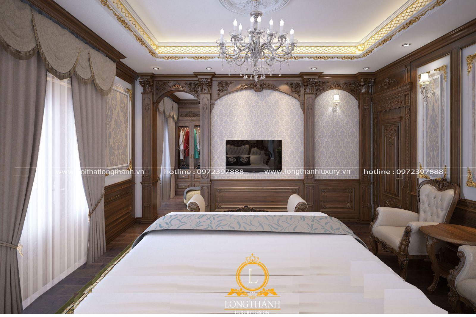 Thiết kế phòng ngủ đẹp với chất liệu gỗ cao cấp