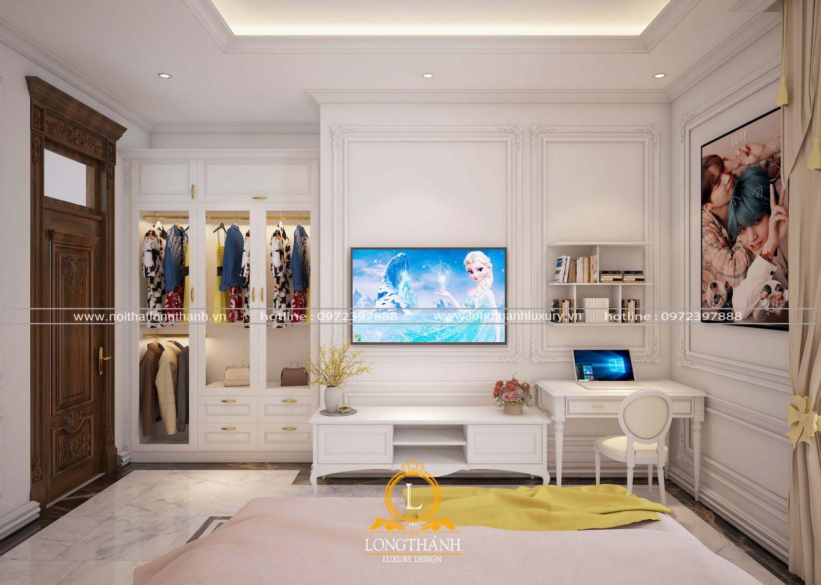 Phòng ngủ trắng tinh