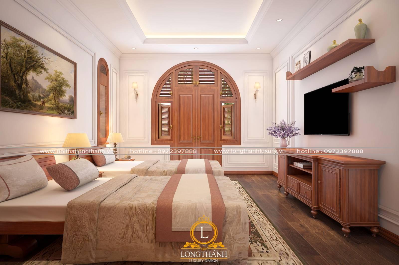 Phòng ngủ khách sạn có sự đa dạng về diện tích và không gian