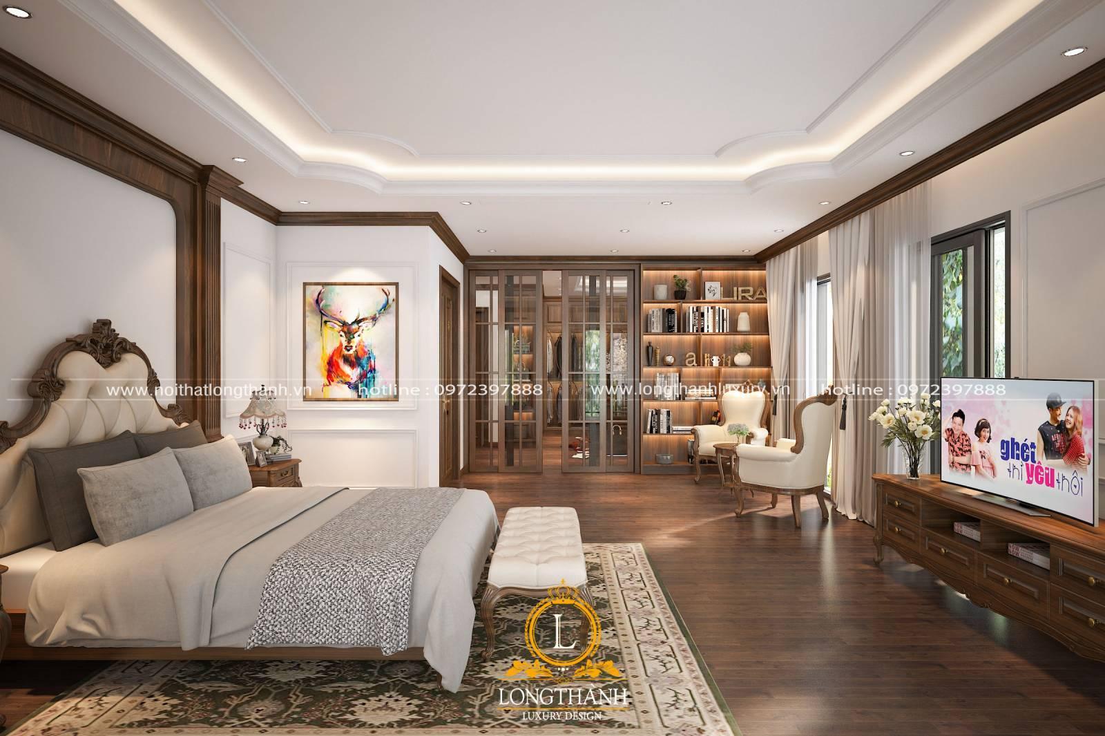 Kệ tivi có vai trò khá quan trọng với gia chủ và trong thiết kế nội thất phòng ngủ