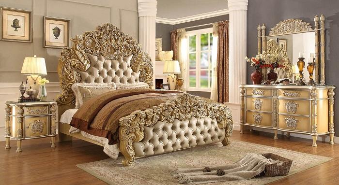 Phòng ngủ nhà phố hẹp theo phong cách cổ điển Pháp