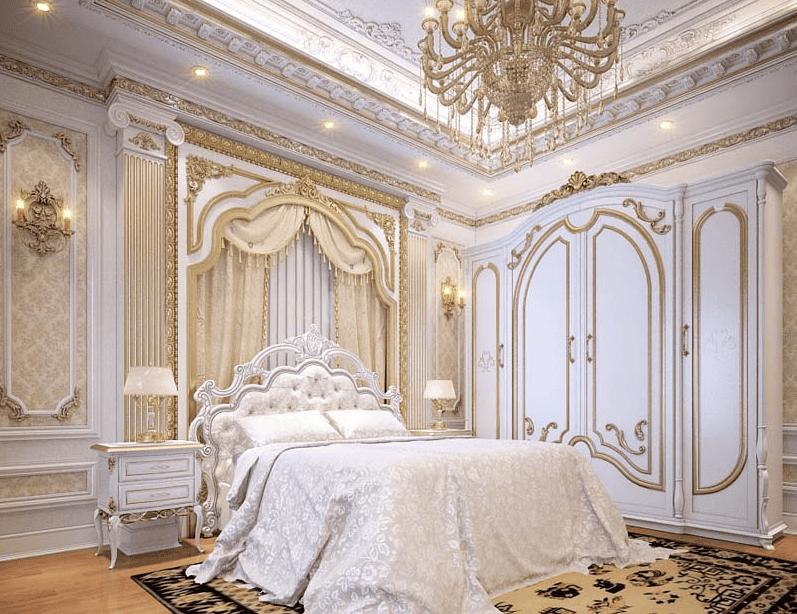 Trang trí phòng ngủ theo phong cách cổ điển rộng thoáng và bắt mất
