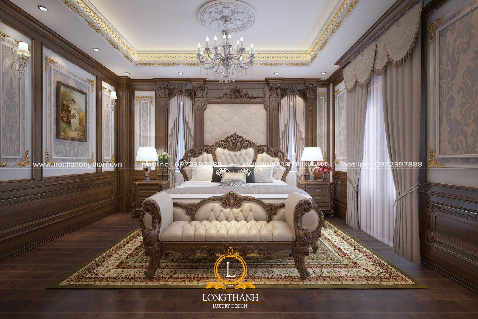 Phòng ngủ tân cổ điển cao cấp tiện nghi