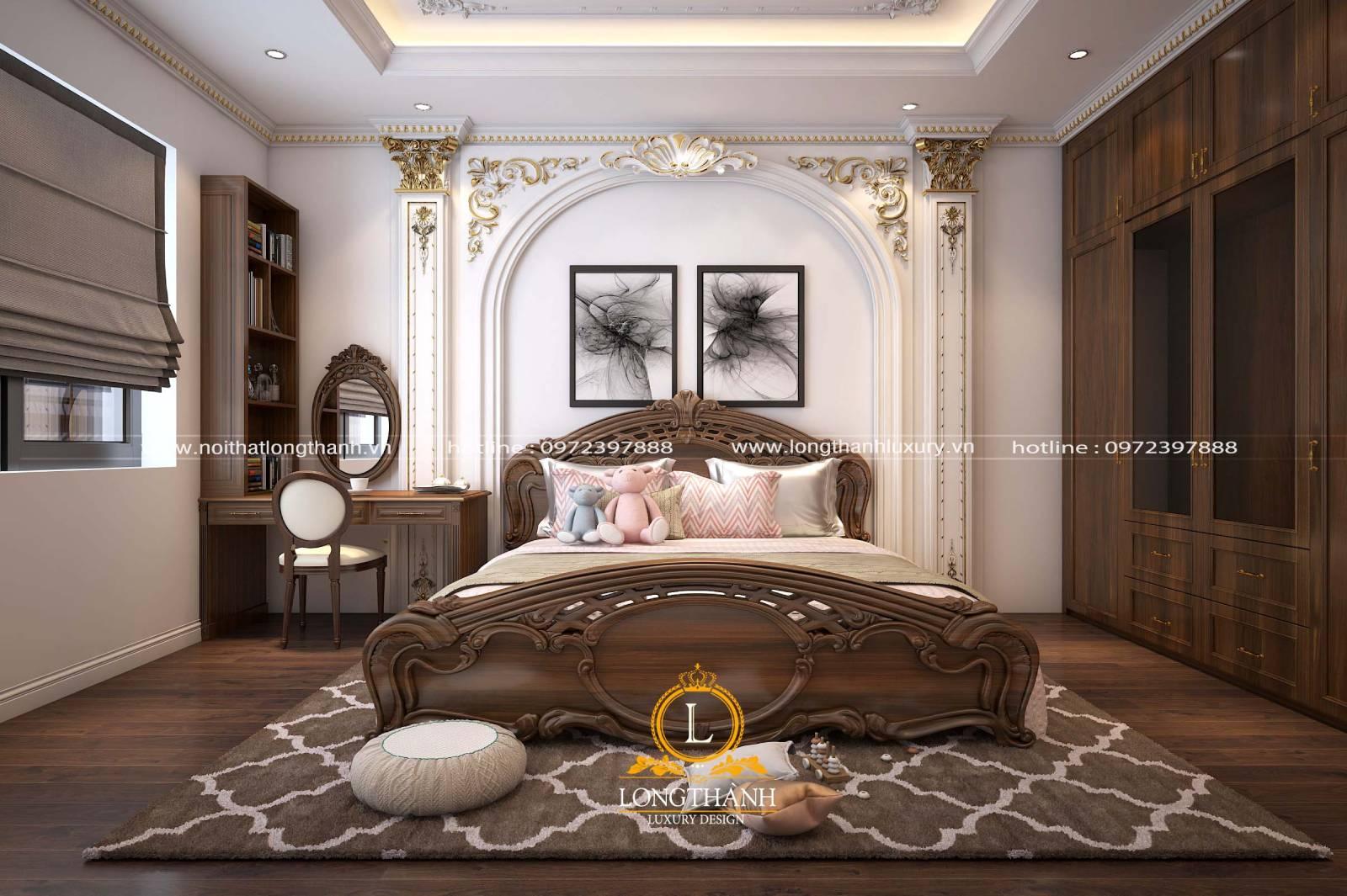 Thiết kế phòng ngủ tân cổ điển cho nhà rộng